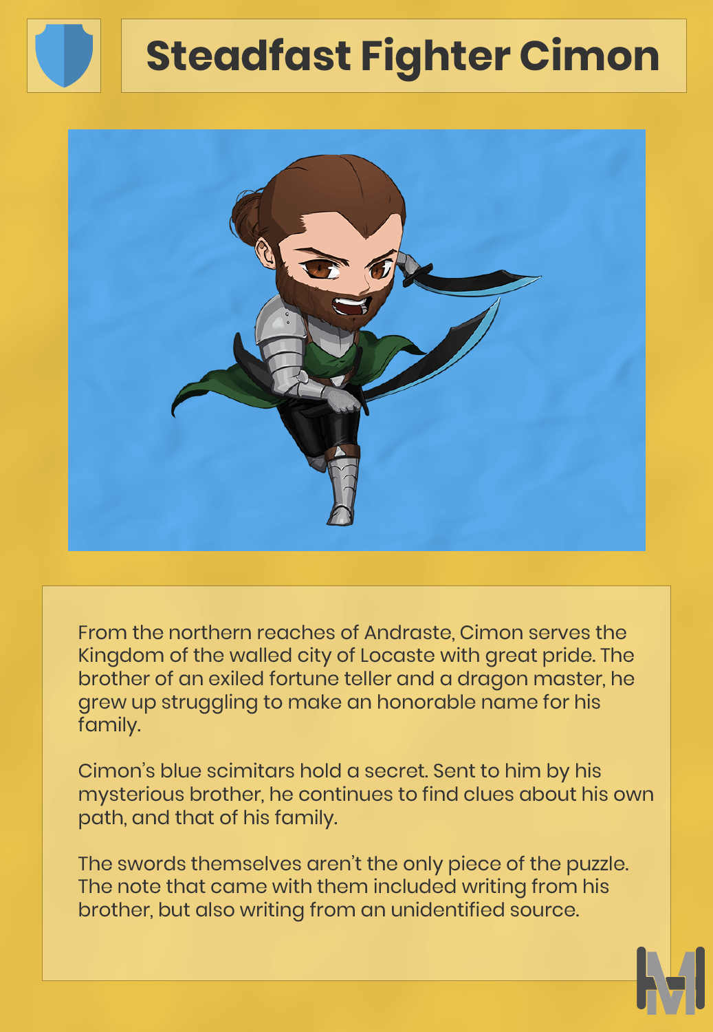 Hyper Minis Steadfast Fighter Cimon Character Card
